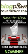 Blog Paws 2014 Nominee - Best Humor Blog